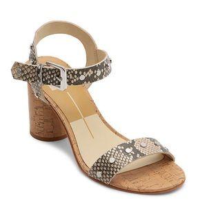 Dolce Vita Jalina Sandal Block Heel Snake Print